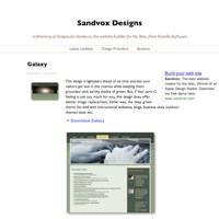 Sandvox Designs, showing Galaxy Design