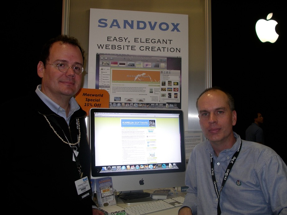 Dan Wood and Terrence Talbot of Karelia Software at Macworld Expo