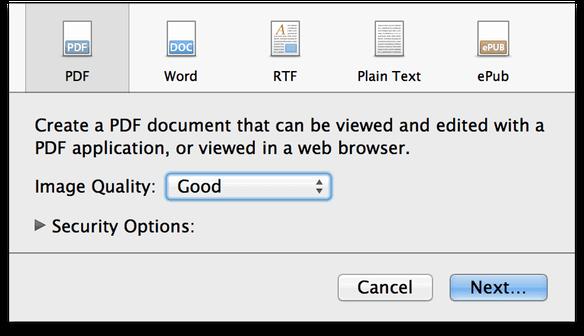 Step-by-step: Putting PDF pages on Sandvox websites