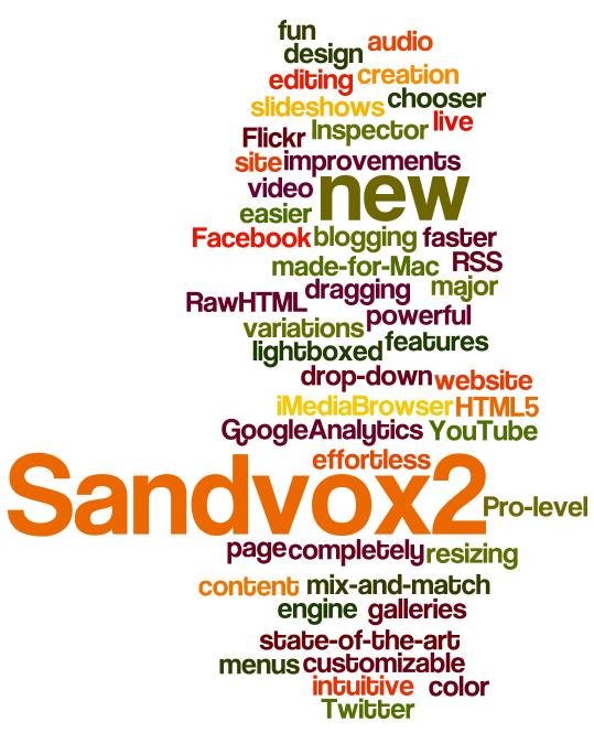 At last   Sandvox 2 0 has arrived!   Karelia Software