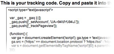 tracking code from google