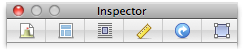 preview of Sandvox 2 inspector