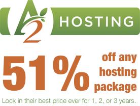 A2 Hosting: 51% off