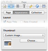Inspector setting custom page thumbnail