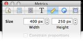 Metrics inspector, 400x250