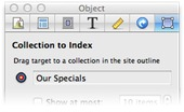 Selection inspector targetting special collection