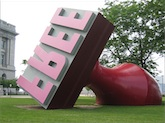 Giant 'free' rubber stamp sculpture, Photo by zoonabar on Flickr
